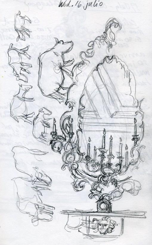 Castle Mirror 2 - Pencil/paper - 5 x 7 inches