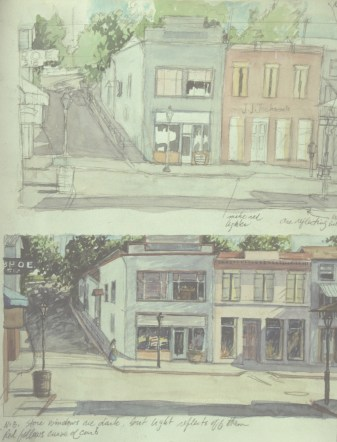 Nevada City Sketches - Watercolor - 7 x 10 inches