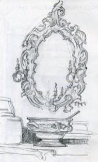 Castle Mirror - Pencil/paper - 5 x 7 inches