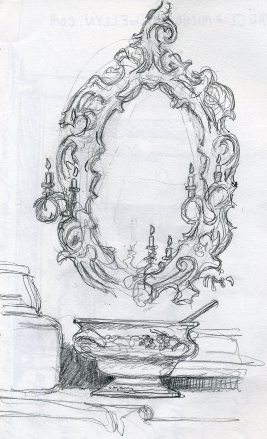 Castle Mirror - Pencil/paper - 5 x 7 inches