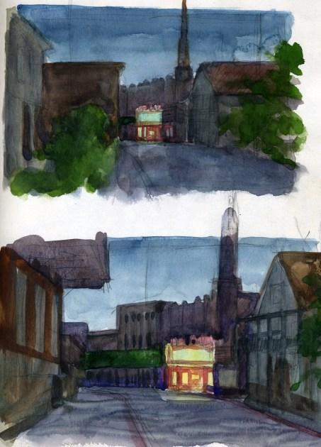 Del Oro Theatre - Watercolor - 7 x 10 inches
