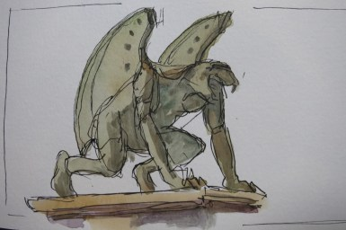 Guardian 2 - Watercolor - 3 x 6 inches