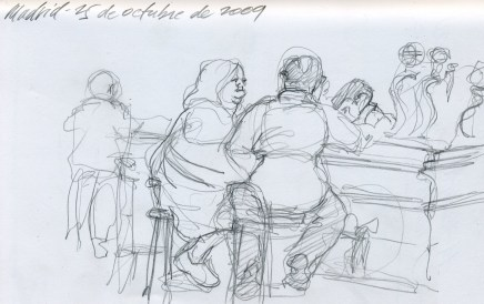 Madrid Bar - Pencil/paper - 5 x 7 inches