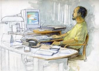 Manolo Blasco - Watercolor - 7 x 10 inches
