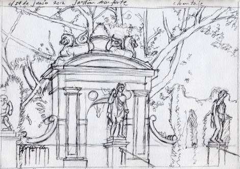 Monforte 2 - Pencil/paper - 7 x 10 inches