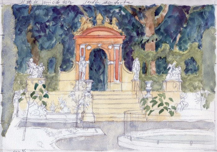 Monforte 3 - Watercolor - 7 x 10 inches