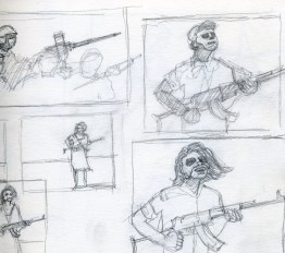 War Sketch 1 - Pencil/paper - 5 x 7 inches