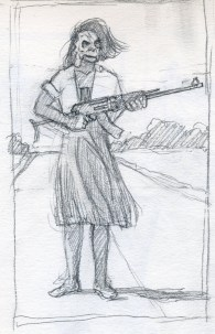 War Sketch 3 - Pencil/paper - 5 x 7 inches