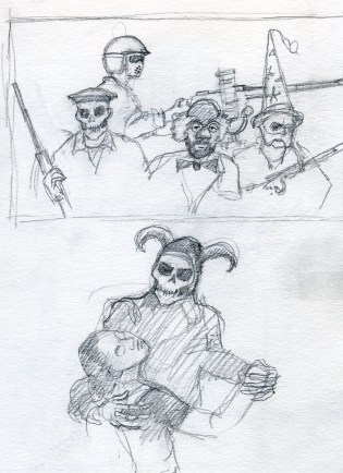 War Sketch 4 - Pencil/paper - 5 x 7 inches