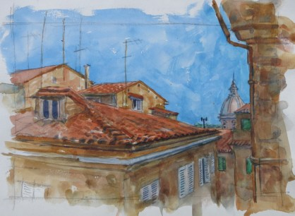Siena - Watercolor - 7 x 10 inches