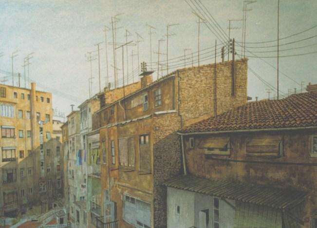 Arriba y Detrás - Watercolor - 21 x 29 inches