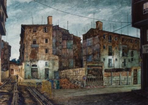Calle del Hospital - Watercolor - 21 x 29 inches