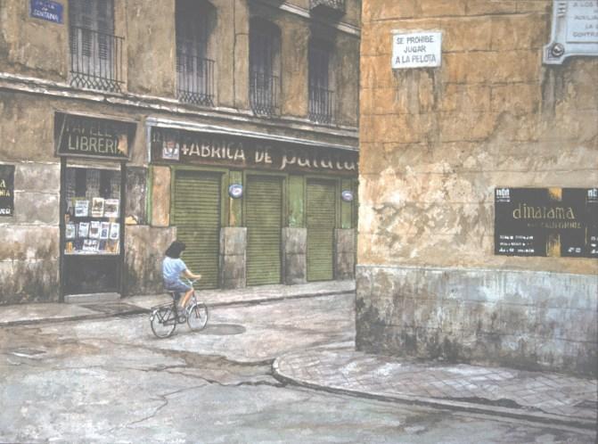 Calle Santana - Watercolor - 21 x 29 inches