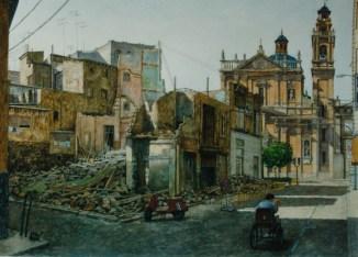 Escombros - Watercolor - 21 x 29 inches