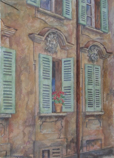 Hesse's House - Watercolor - 7 x 19 inches