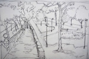 Parque 2 - Pencil/paper - 7 x 10 inches