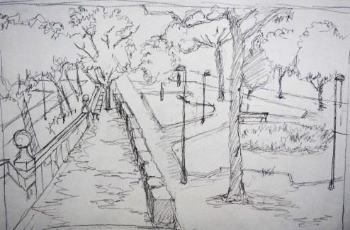 Parque 2 - Pencil/paper - 7 x 10 inches