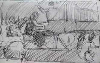 Concert Pianist- Pencil/paper - 5 x 8 inches