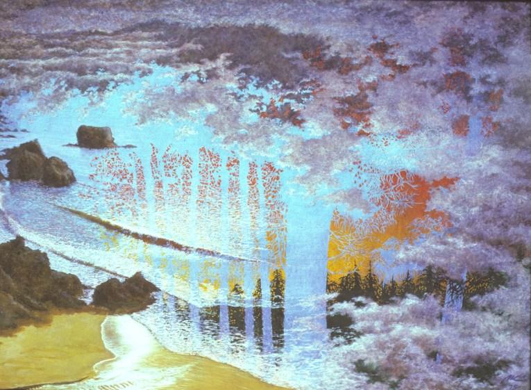 Bridge - Acrylic/masonite - 36 x 48 inches