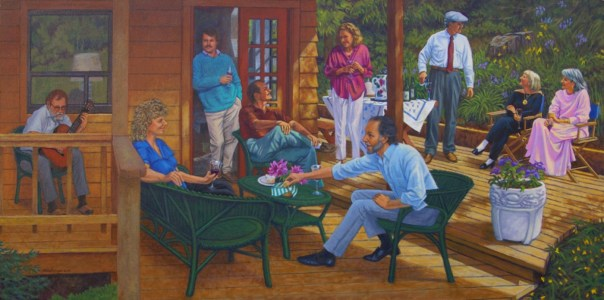 Nine Friends - Oil/canvas - 24 x 48 inches