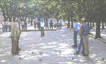 Petanque - Oil/canvas - 20 x 32 inches