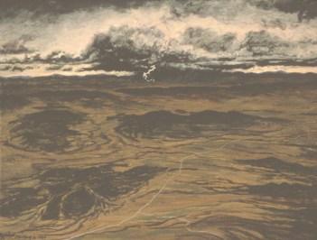 Storm At Dusk - Acrylic/masonite - 11 x 15 inches