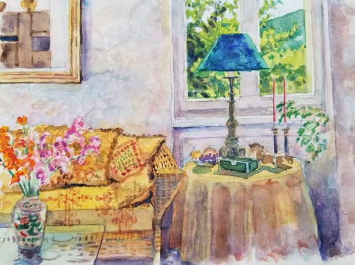 Via Cresperone - Watercolor - 7 x 10 inches