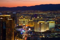 picture of las vegas strip from venue high above