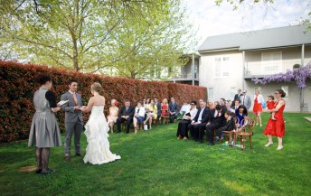 Wedding Ceremony at Lindenwarrah