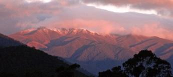 Alps sunset