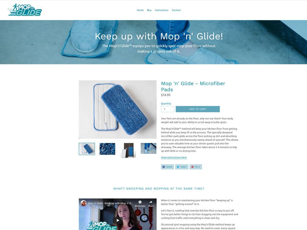 Mop n Glide Website Screenshot
