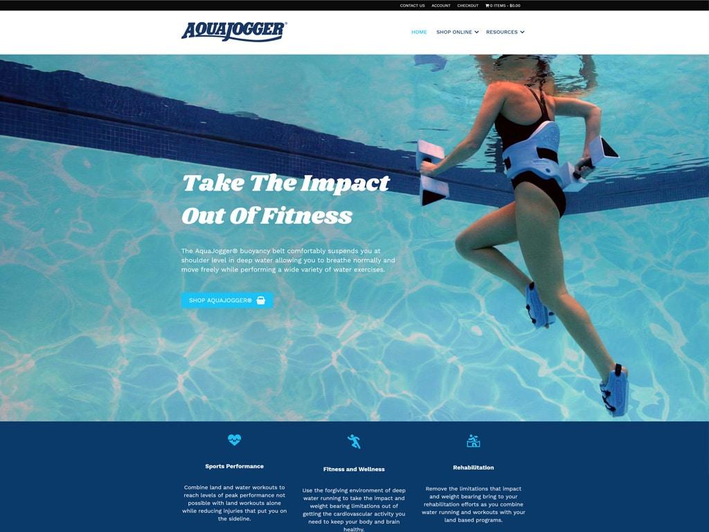 AquaJogger Website Screenshot