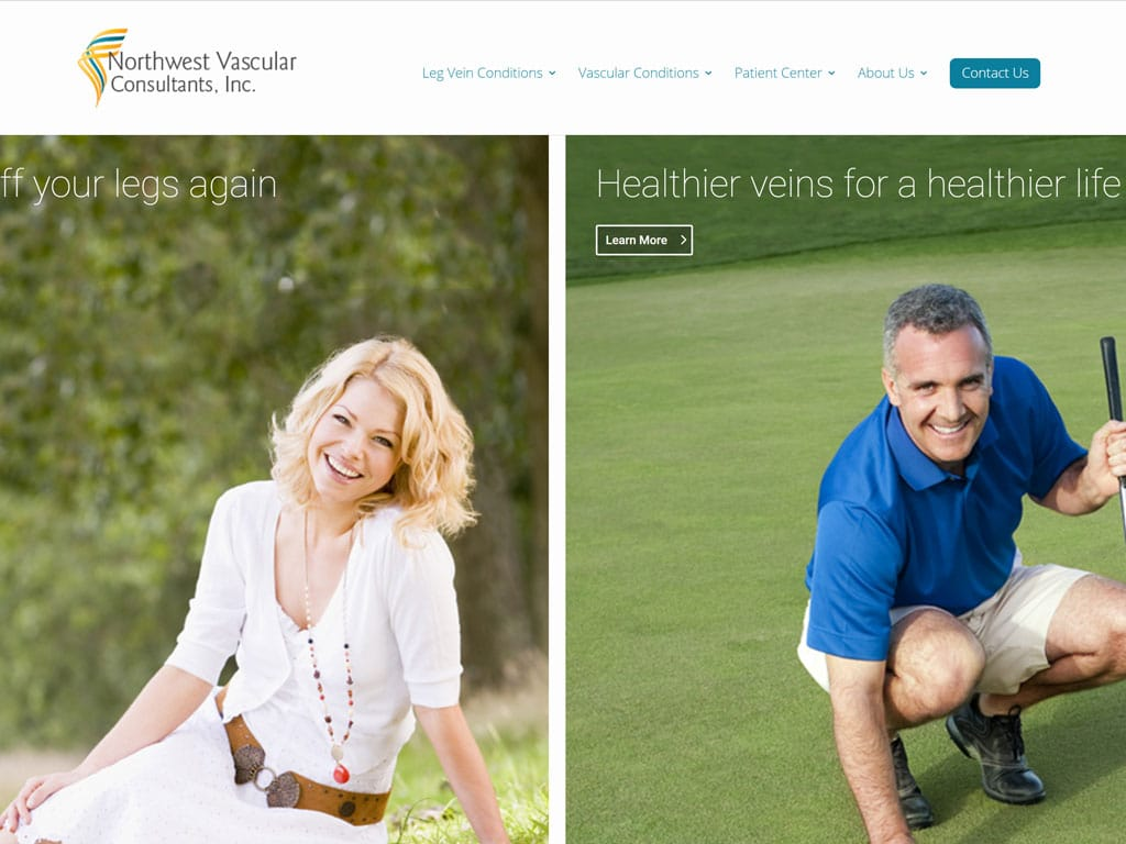 Northwest Vascular Consultants Website Thumbnail