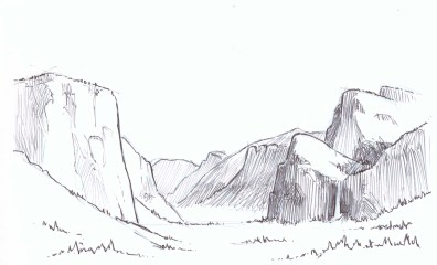 Valley Sketch on