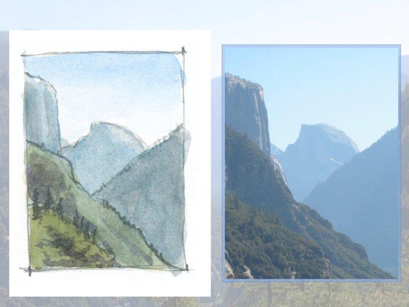 Yosemite Landscapeito: making quick watercolor sketches in the field