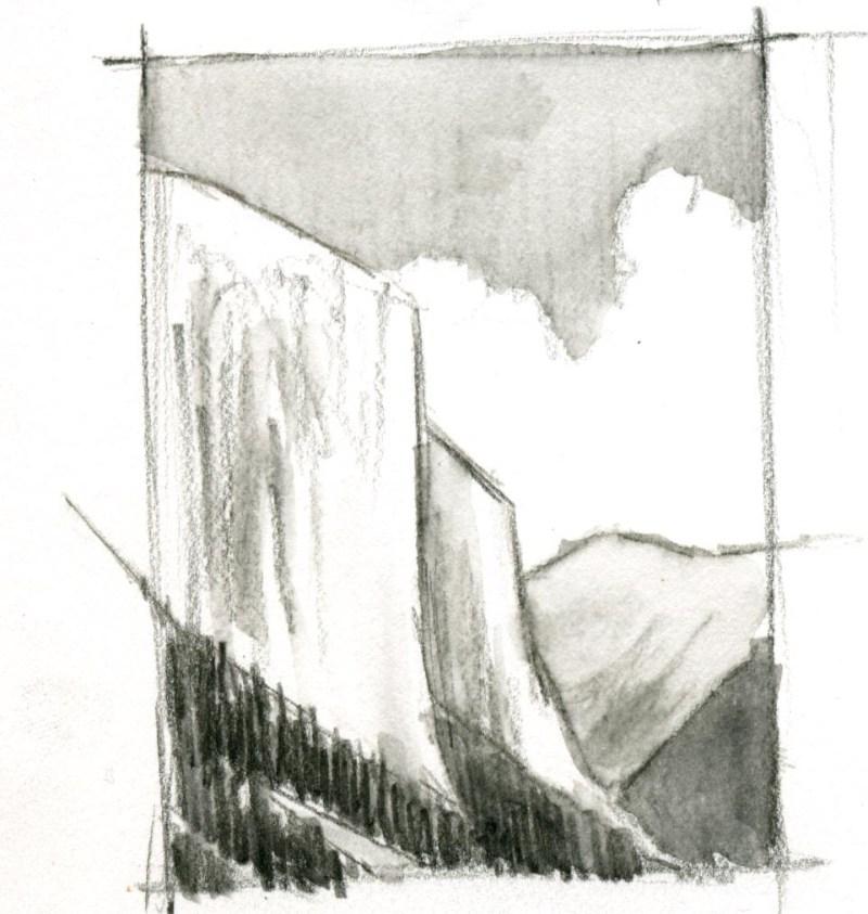 5 Minute Landscape: Watercolor Pencil