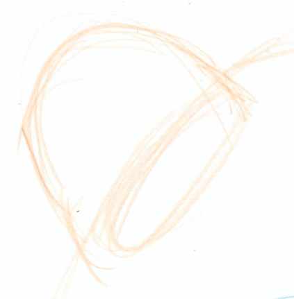 Block in the basic ear shape. Visualize the ear as coming from the ellipse on the side of the head, not a flat shape.