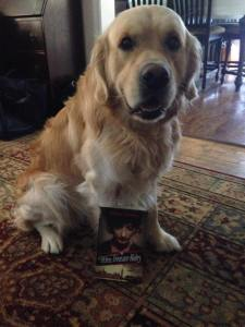 Golly the golden retriever is loved by my friend & critique partner Renee Osborne.