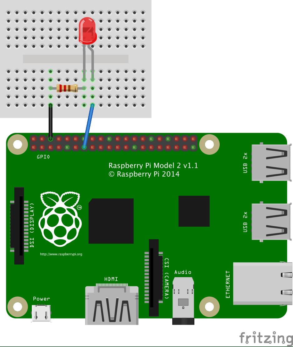 raspberry pi 3 model b wiring diagram convert ps2 keyboard to usb javascript robotics led blink on with johnny five