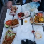 Eating out on the street, this was still delicious.