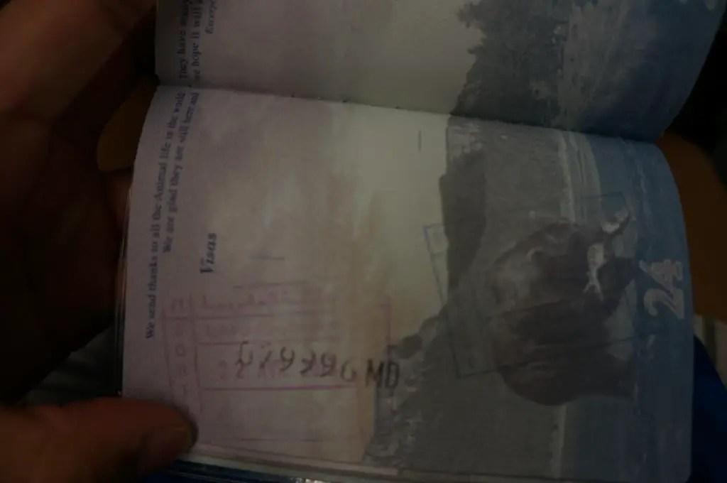 Passport stamp morocco