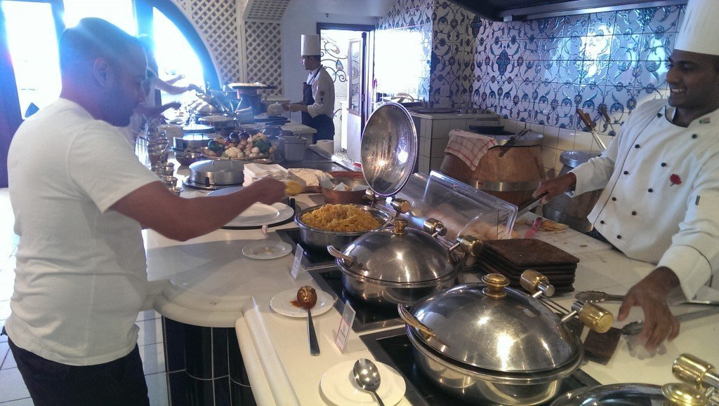 Curry Buffet at the Oyster Box hotel.