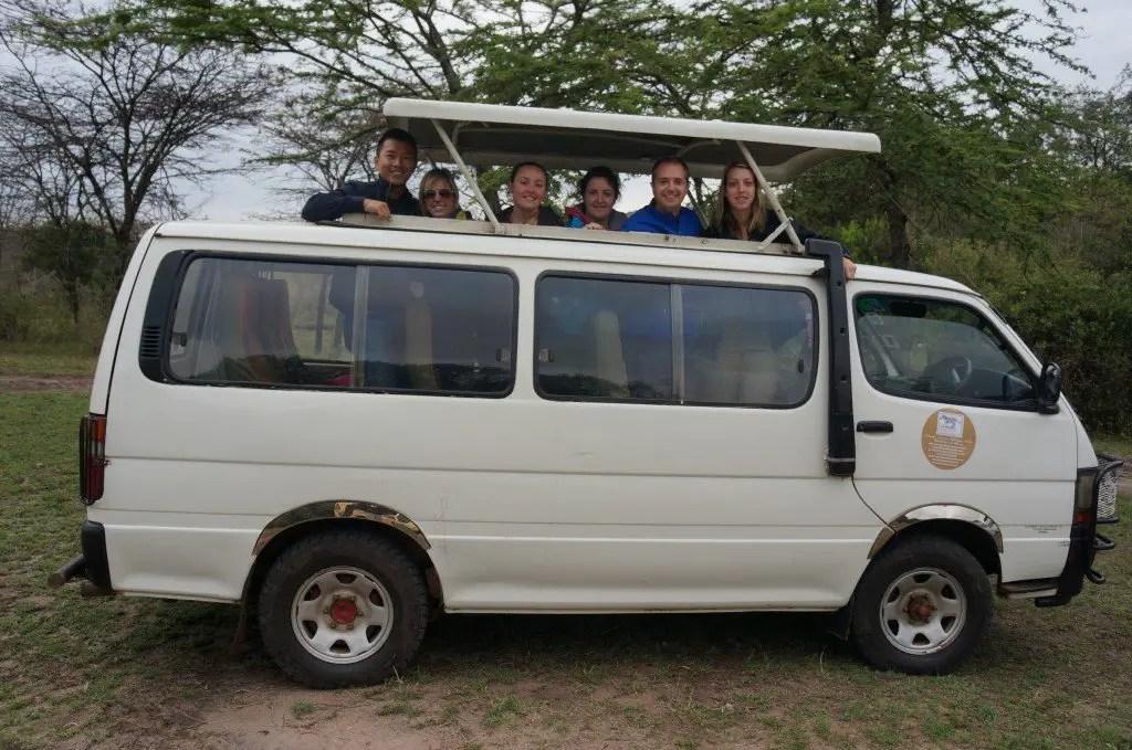 game drive vehicle masai mara