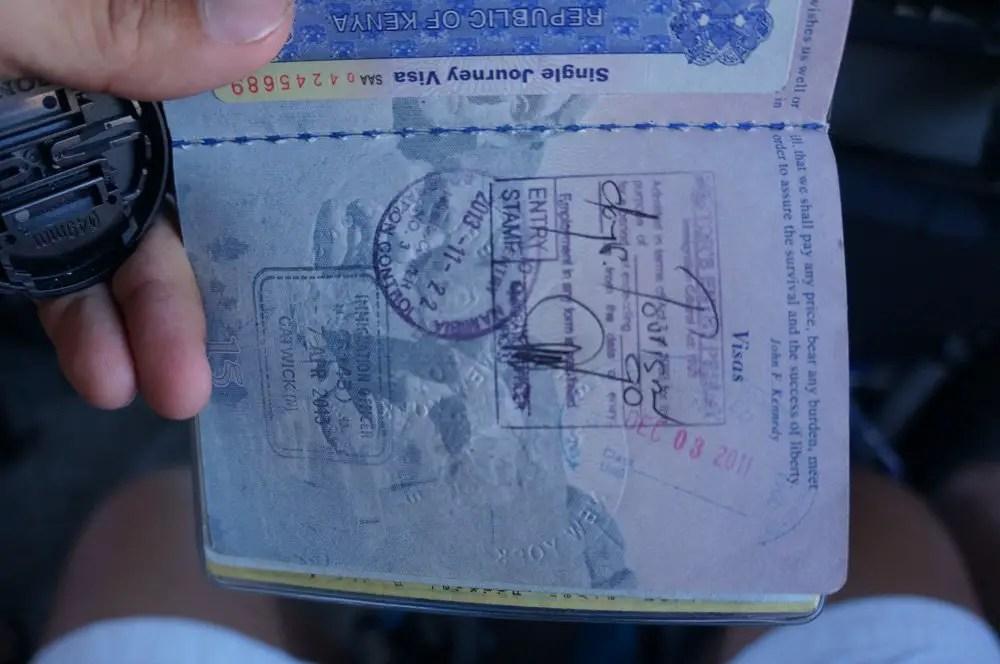 Namibian passport stamp.