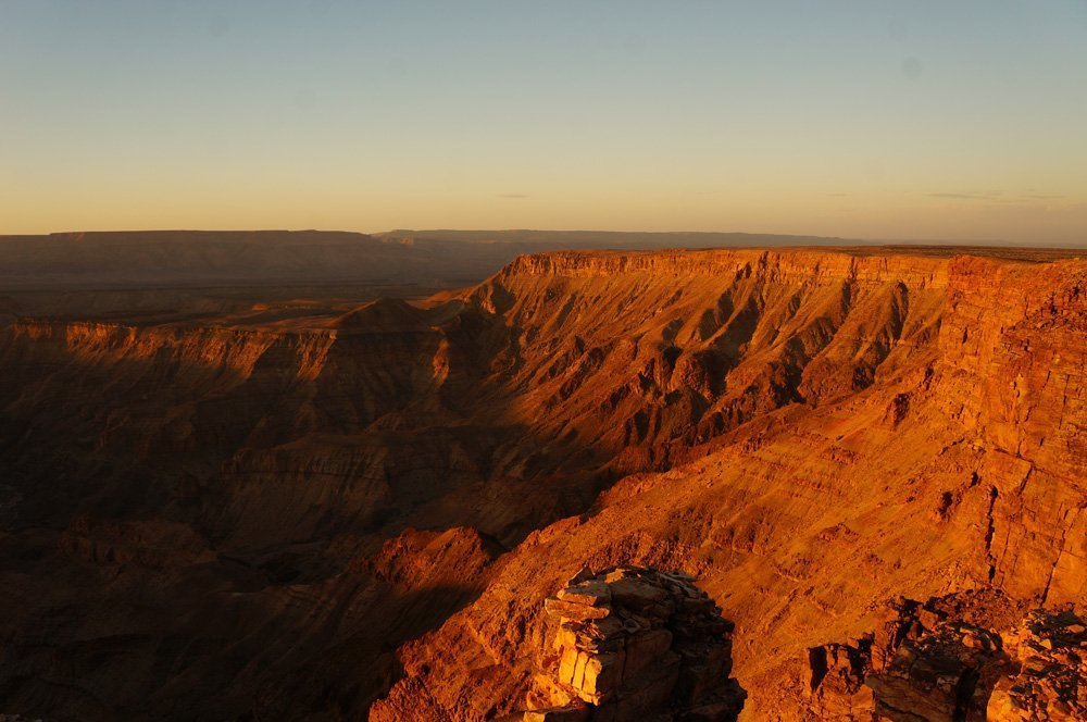 fish river canyon sunset