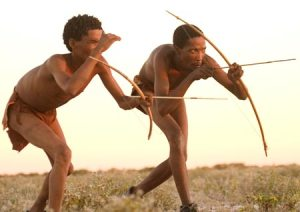 Traditional San Bushmen. Very few still live this way.