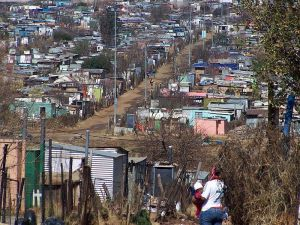 Poor part of Soweto.
