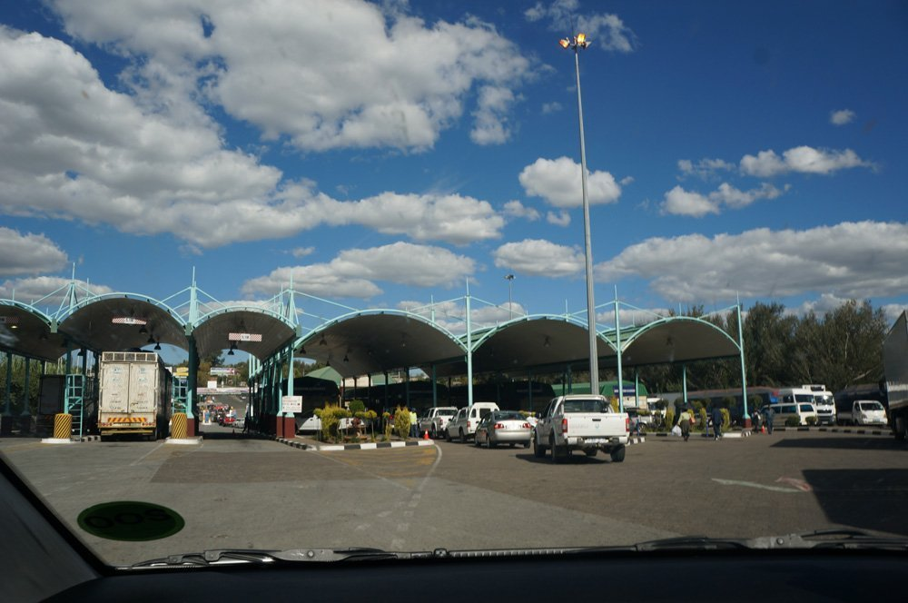 South Africa - Lesotho border crossing at Maseru.