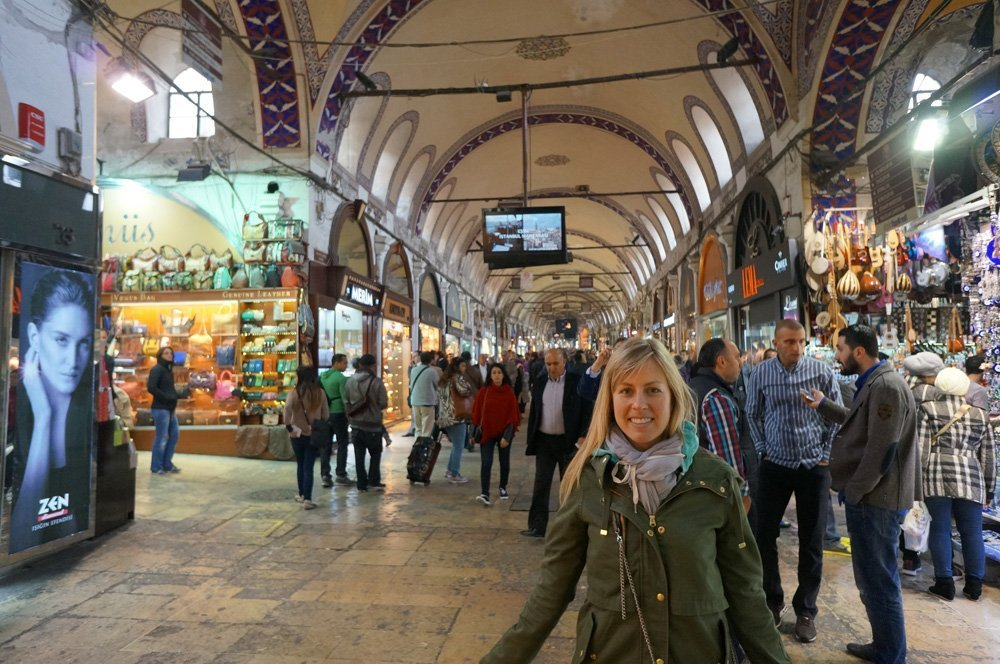 One of the many entrances for the Grand Bazaar.
