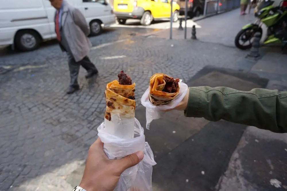 Adana kebabs in a wrap at Duramdze.